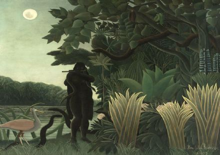Rousseau, Henri: The Snake Charmer. Fine Art Print/Poster. Sizes: A4/A3/A2/A1 (00558)